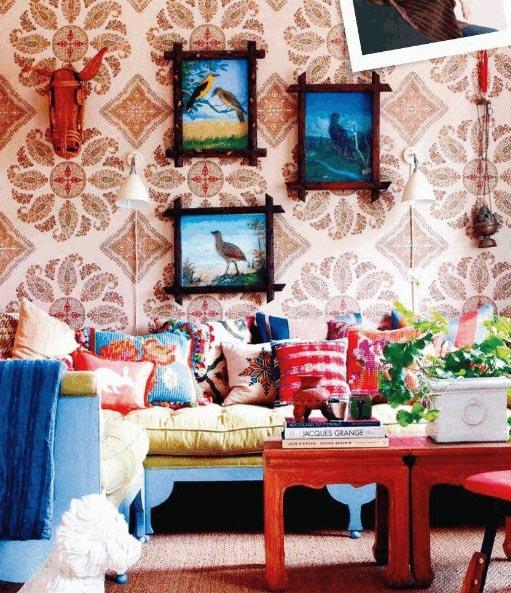 Kleurrijk wonen met wereldse prints, materialen en woonaccessoires ...