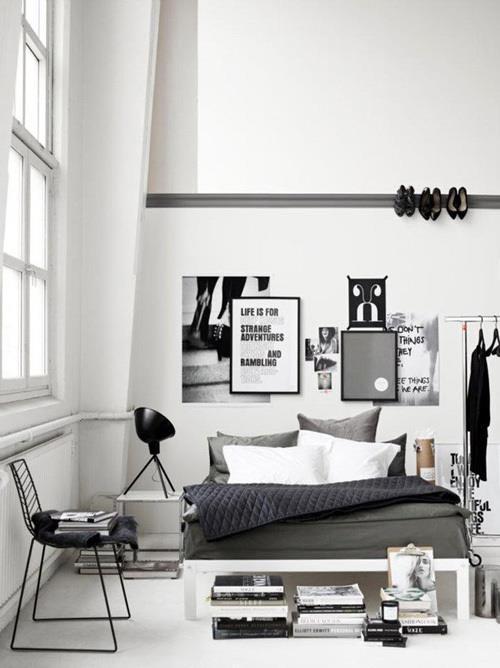 inspiratie voor wonen met veel zwart en wit tinten