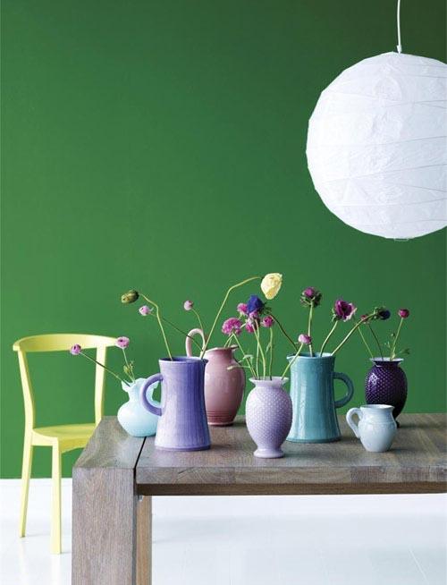 Inspiratie Slaapkamer Groen: Slaapkamer inspiratie groen groene muur ...