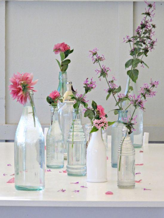 Geen zin om weer een doodnormale vaas te gebruiken voor je bloemen ...
