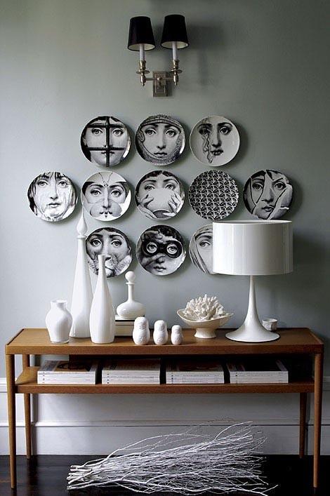 Creatief met borden aan de muur interior junkie - Credenza voor keuken ...