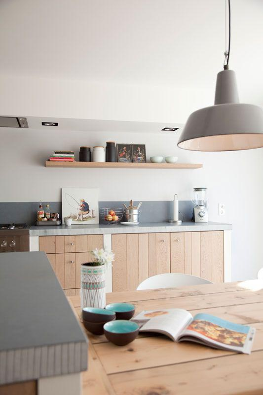 Keuken Planken Inrichten : Concrete Kitchen Wood