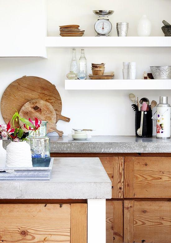 Keuken Planken Inrichten : Concrete Kitchen Counters