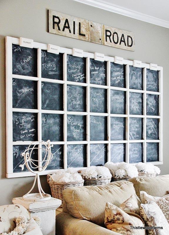 Handdoekenrekje Keuken : Large Chalkboard Calendar