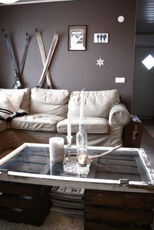 Handdoekenrekje Keuken : DIY with Old Window Coffee Table