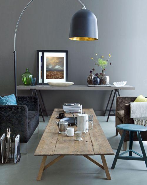 Blauwe Keuken Accessoires : Grey Rustic Coffee Tables