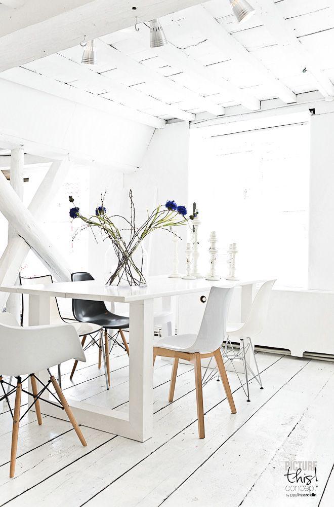 x witte vloeren om bij weg te dromen  interior junkie, Meubels Ideeën