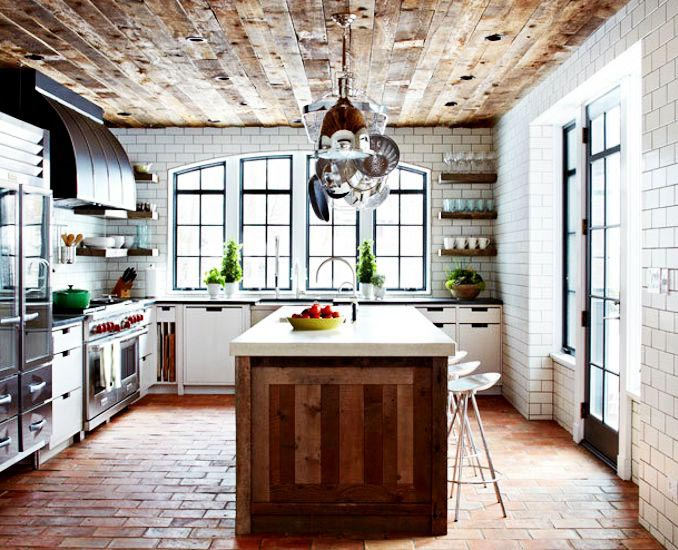 Plafond Ideeen Woonkamer : Reclaimed Wood Floor Ceramic Tile