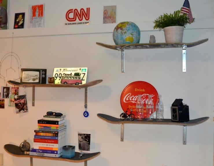 DIY: van skateboard tot boekenplank