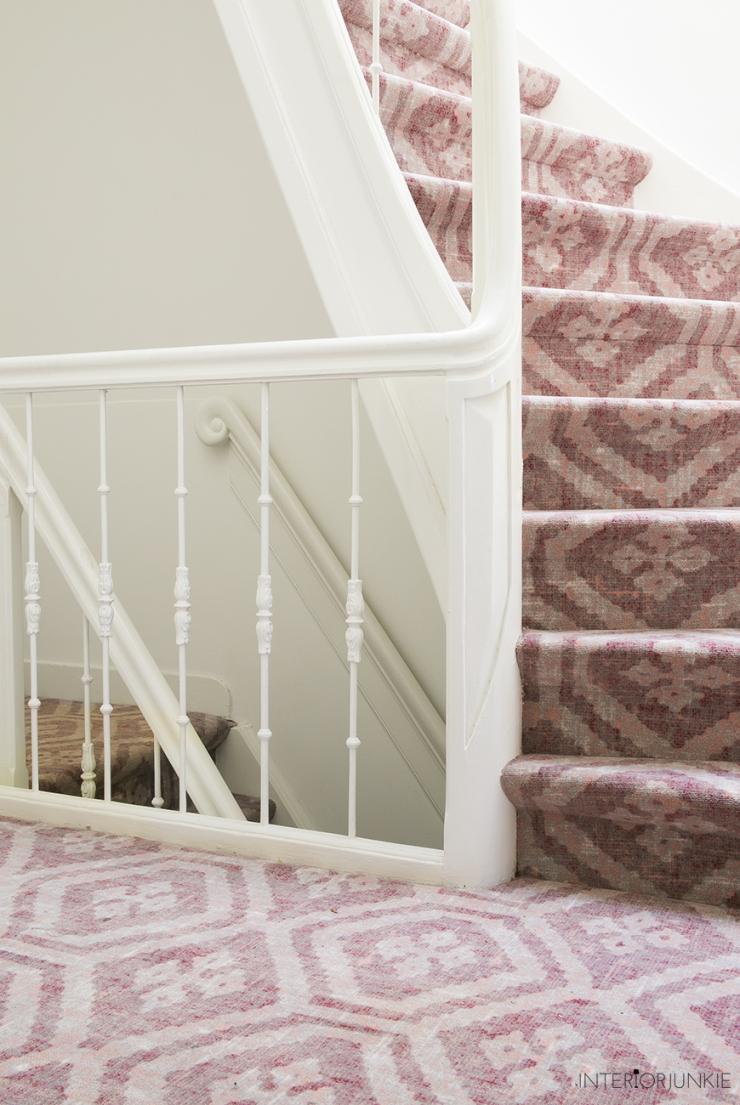 De trapbekleding is eindelijk af