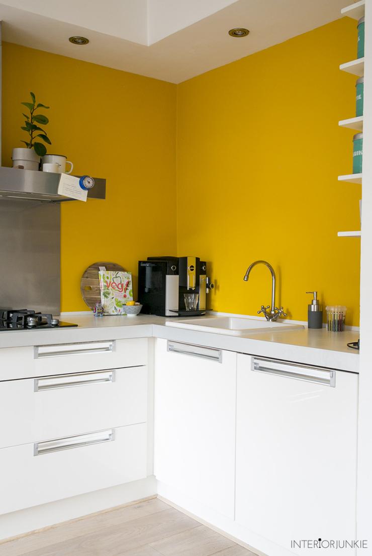 Durf jij een gele muur in de keuken aan?