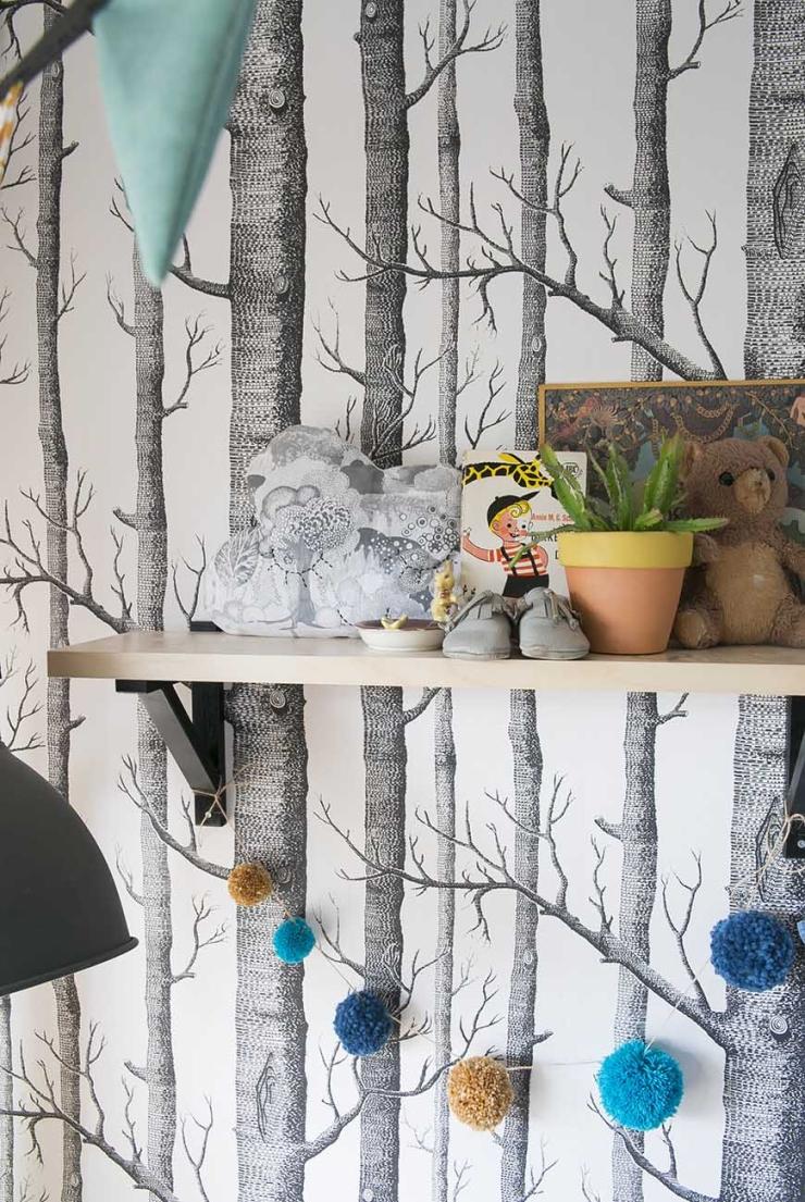 De babykamer vol bosdieren van Carla uit Sliedrecht