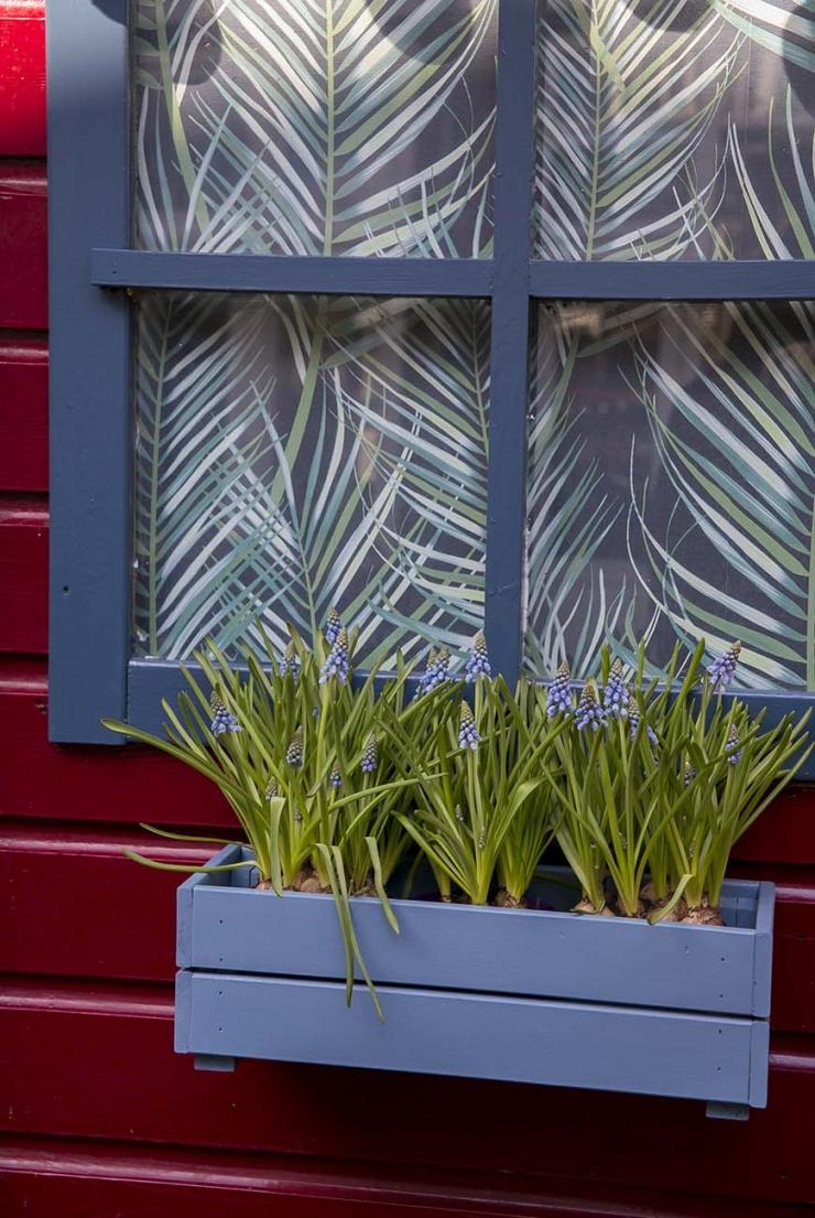 Mijn tuinhuisje make-over vol blauwe accenten