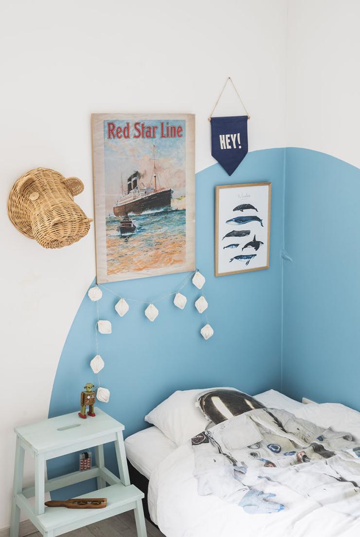 Ga eens voor een creatief muurtje in de kinderkamer