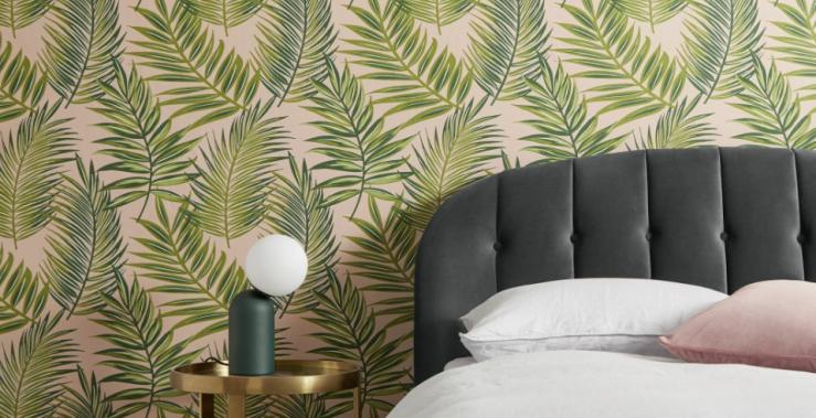 Woonfavorieten: botanische behang + wollige stoel