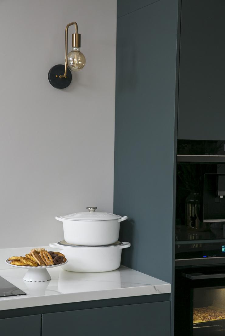 Een blauw-groene keuken. Durf jij het aan?