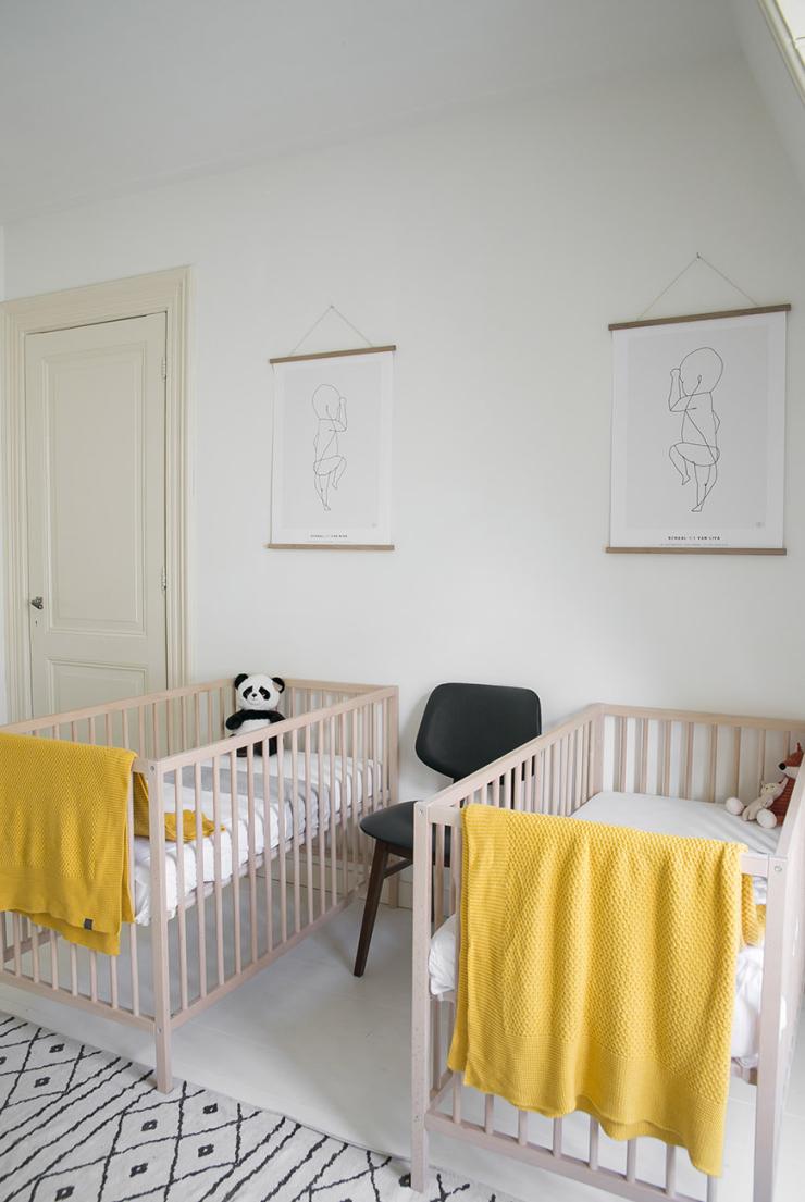 De tweeling babykamer van Susanne uit Haarlem