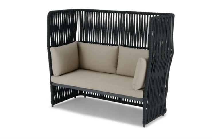 Woonfavorieten: schommelstoel + bamboe ligbed