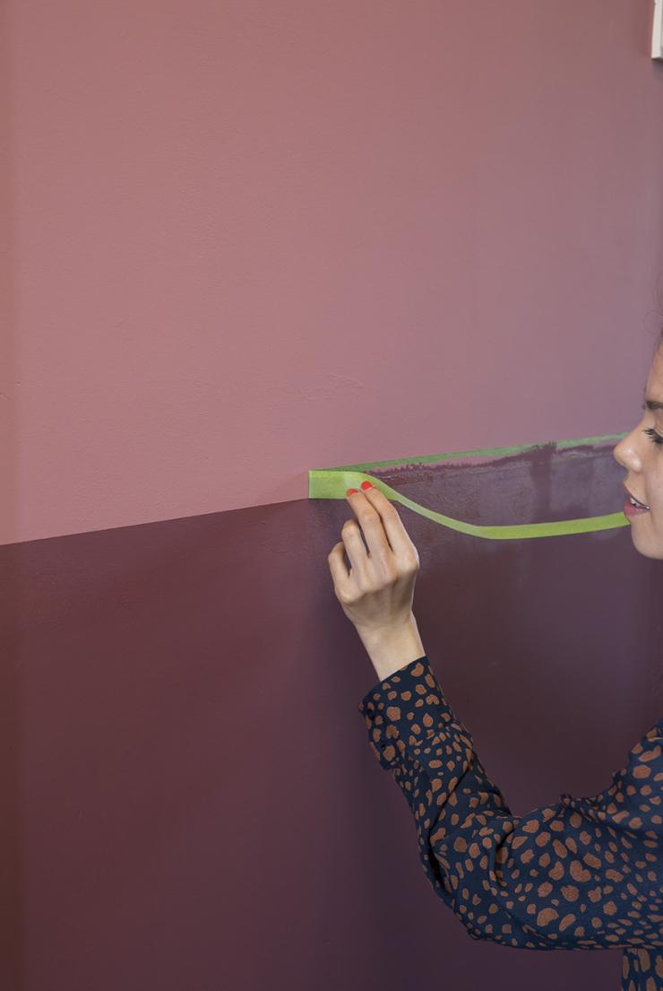 DIY: een two-tone muur maken in mijn hal