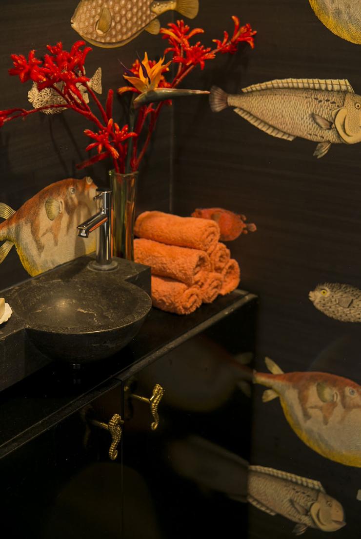 Een wc vol vissen: o zo mooi!