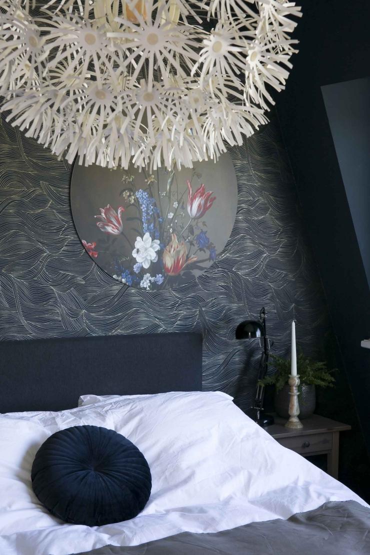 Thuis in het huis van Ingrid vol kunstig behang