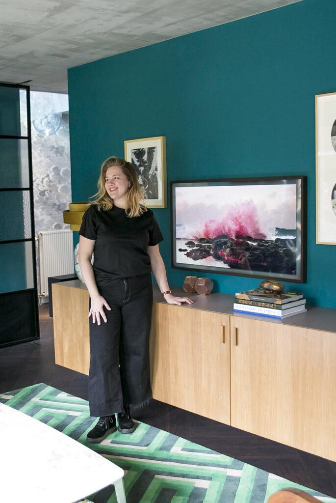 Thuis in het colour block huis van Willemijn