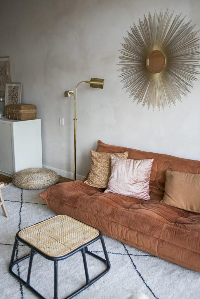 Thuis in het neutral chic huis van Nina