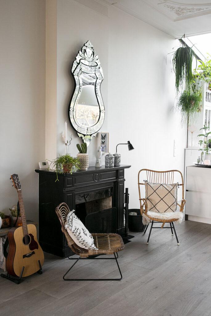Thuis in het urban boho scandinavian interieur van Hanne